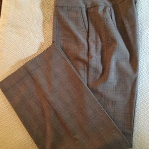 Nine & Co plaid pants size 16